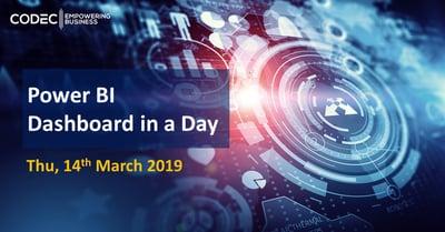Dashboard in a Day - 14th Mar'19