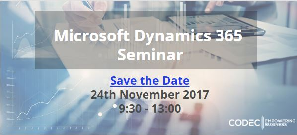 Microsoft Dynamics 365 Seminar - Save the Date!