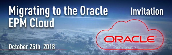 email33Migrating to the Oracle EPM Cloud Event, October 25th 2018